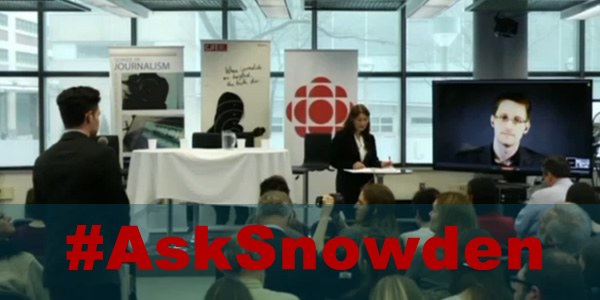 Michael Carter, PhD Candidate at Queen's University, speaks with Edward Snowden